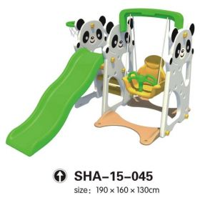 Panda Swing & Slides Playset with Basketball Net SHA-15-045