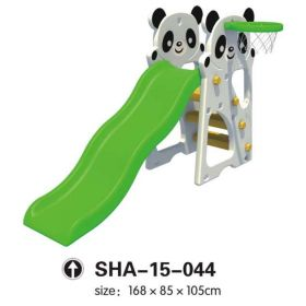 Panda Slides Playset with Basketball Net SHA-15-044