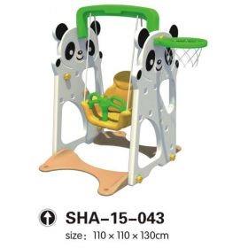 Panda Swing Playset with Basketball Net SHA-15-043