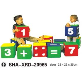 Kids Soft Cubes 10pcs Playsystem SHA-XRD-20965