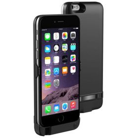 6000mAh Power Bank Charger External Battery Backup Case Cover For iPhone 6 And 6s Black
