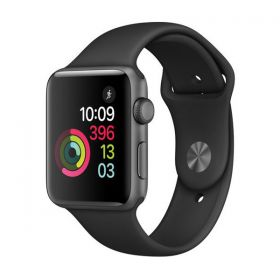 Apple Watch Series 2 , 42mm Aluminum Case , Rubber Band , Black
