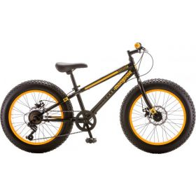 Boy's Mongoose Massif Black/ Yellow Fat Tire Bike, 20 inch