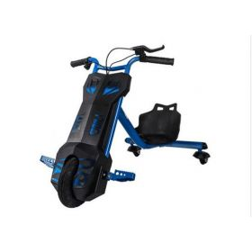 kids 3 wheel electric bicycle - drifting scooter blue