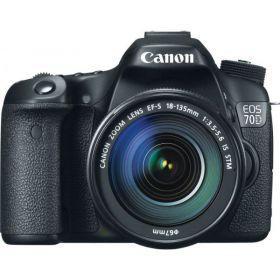 Canon EOS 70D - 20.2 MP, SLR Camera, Black, 18 - 135mm IS STM Kit