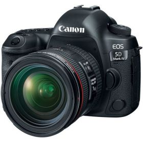 Canon EOS 5D Mark IV 24-70mm F/4L Lens - 30.4MP, DSLR Camera, Black