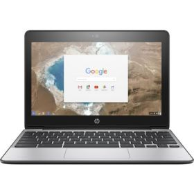 HP ChromeBook 11 G5 X9U01UT Laptop - Intel Celeron N3060, 11.6 Inch HD, 16GB EMMS,2GB, Chrome OS, Black