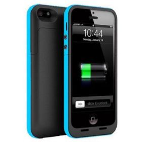 iphone 5/5S 2500mAh Rechargeable Battery Case External Power Bank---blue&black