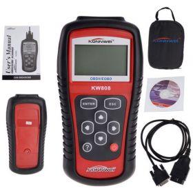 Konnwei KW808 EOBD OBD OBDII Scanner Reader Car Vehicles Diagnostic Tool Detector