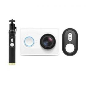 YI Action Camera 16MP Sony Sensor HD With Selfie Stick & Bluetooth Remote White International