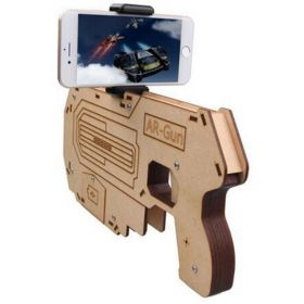 AR GUN For 3D VR Games Wooden Material Toy Gun Game DIY Suit for iPhone xiaomi Android IOS Smart Phone