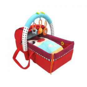 Qtot 2 in 1 Deluxe Snuggle Basket and Mat