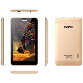 Ctroniq Snook T75 Dual SIM Tablet - 7 Inch, 8GB, 1GB RAM, 4G LTE, Gold