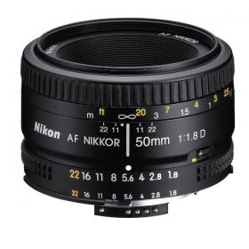 Nikon Nikkor 50mm 1.8D Interchangeable Prime Lens for Nikon Cameras - 2137