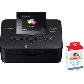 Canon Selphy CP910 Compact Photo Printer + Canon KP-108IN Ink and Photo Paper