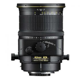 Nikon PC-E Nikkor 45mm f/2.8D ED Lens, Black [PCE45 MM]