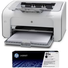 HP Laserjet Pro P1102 Printer + HP 85A Black Toner