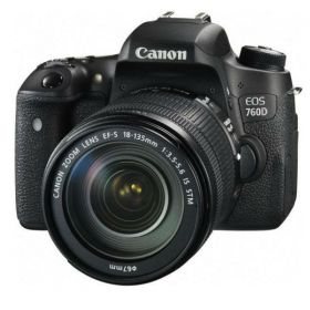Canon EOS 760D DSLR Camera with 18-135mm Lens Kit - 24.2MP, Black
