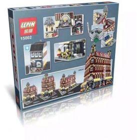 LEPIN15002 Creators Cafe Corner Model Building Kits Minifigure Blocks Kid Toy Gift