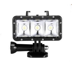 Waterproof Power Dimmable LED Video POV Flash Fill Light Night Light for GoPro Hero 4/3/2 for xiaomi Yi Action Camera