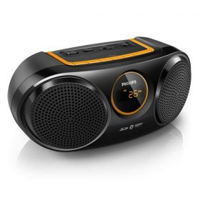 Philips wireless portable speaker Bluetooth USB Direct SD FM digital tuner AT10