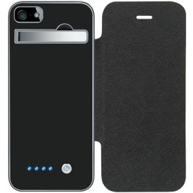 Portable External Rechargable Battery Case for iPhone 5 2800mAh Power Bank - BLACK