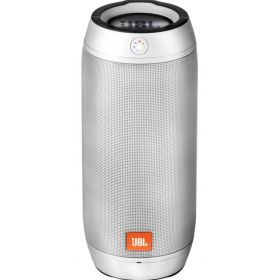 Pulse 2 Portable Bluetooth Speaker by JBL, Splashproof, Silver, JBLPULSE2SILEU