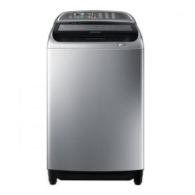 Samsung 10 Kg Top Load Washing Machine With Active Dual Wash And Digital Inverter Motor, Silver