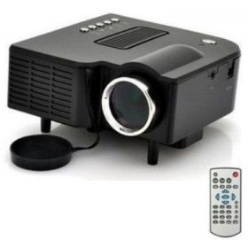 VGA USB SD AV HDMI Mini Portable HD LED Projector Home Cinema Theater PC Laptop Black