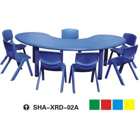 Kids Study Table & 7 Chair SHA-XRD-02A