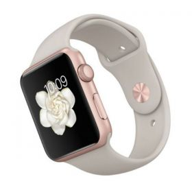 Apple Watch Sport 2nd Gen - 42mm Rose Gold Aluminum Case with Stone Sport Band