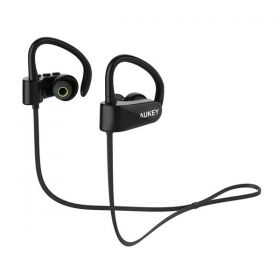 Aukey EP-B22 Bluetooth Headphones, Wireless Stereo Earbuds with Sweatproof and Built-in Mic - Black