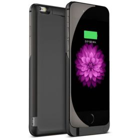 Black For iPhone 6 6s External Charger 4.7inch Phone Case 6000mAh Backup Power Bank Battery Charge Cover