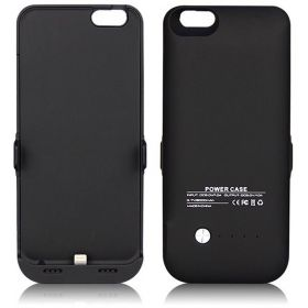 Iphone 6 6s External Battery Charger Case Slim Backup Power Bank Charging Cover Case (6000mah black)