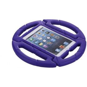EVA Steering Handle Design Kids Shock Proof Foam Case Cover Stand for Apple ipad 2 3 4-Purple
