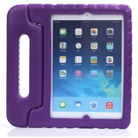 Kids Safe Thick Foam Shock Proof EVA Case Handle Cover For iPad Air 5-Purple
