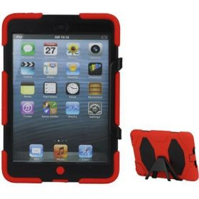 Griffin Survivor Case for iPad Mini / iPad Mini 2 with stand and Screen Protector – Red