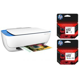 HP Deskjet Ink Advantage 3635 All-in-One Printer + 652 Black and Tri-color Ink Cartridges