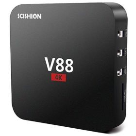 V88 4K Android 5.1 Smart TV Box 1G/8G 4 USB 4K 2K WiFi Full Loaded Quad Core 1.5GHZ Media Player