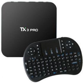 TX3 Pro Smart TV Box, Amlogic S905X Quad Core 4K, Android 6.0, 2.4G WiFi, Multi-media Player, 1GB+8GB, H.265 With i8 Wireless Keyboard