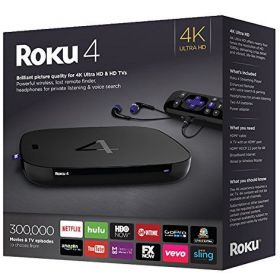 Roku 4 Streaming Media Player (4400R) 4K UHD