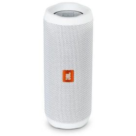JBL Flip 4 Waterproof Portable Bluetooth speaker - White, JBLFLIP4WHTAM