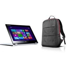 Lenovo Yoga 3 Laptop - Intel Core i7-5500, White + Lenovo BackPack