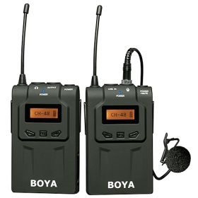 Boya 48-Channel UHF Wireless Microphone System for Digital Camera & Camcorder - BY-WM6