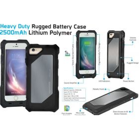Promate Sheltex i6 Apple MFI Heavy Duty Rugged Power Battery Case for iPhone 6/ 6S