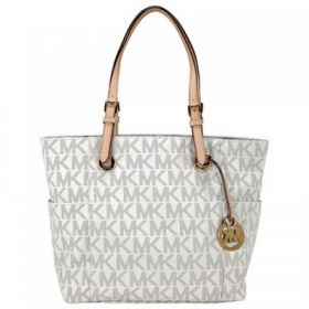 Michael Kors 30S11TTT4B-150 Jet Set Monogram Logo Tote Bag for Women - Vanilla