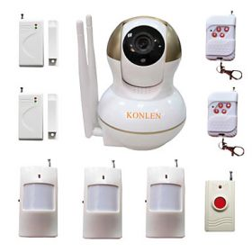 WIFI Burglar Home Alarm IP Camera Security System For House Anti Thief Video Surveillance With Wireless Alarme Detectors