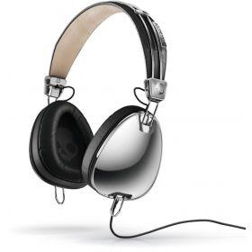 Skullcandy Aviator Headphones with Microphone Black Chrome